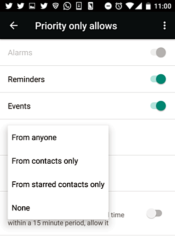 , How to allow select messages and calls to make noise when your Android phone is in quite mode