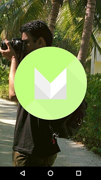 M-icon on th screen