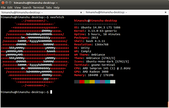 How to get system-related information on the Linux command line with  Neofetch