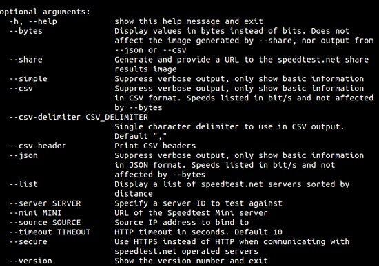 , How to check Internet speed from command line in Linux