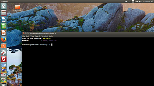 Gnome terminal opened