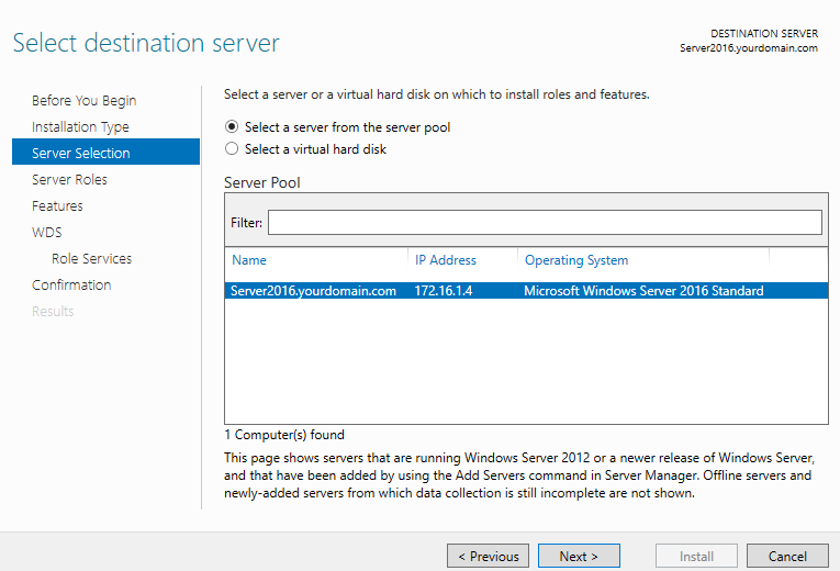 How to Configure Windows Deployment Services on Server 2016