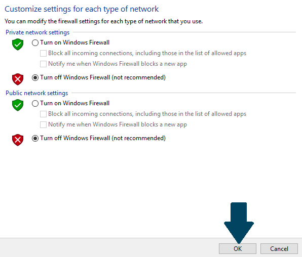How to Turn Off Firewall in Windows Server 2016