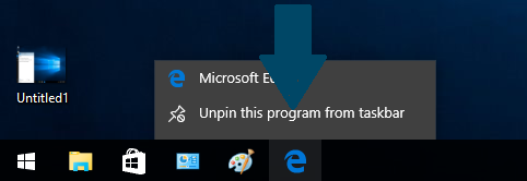 Unpin Microsoft Edge Browser from Task Bar