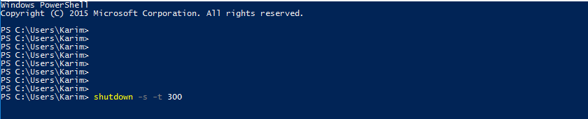 Shutdown Windows from PowerShell