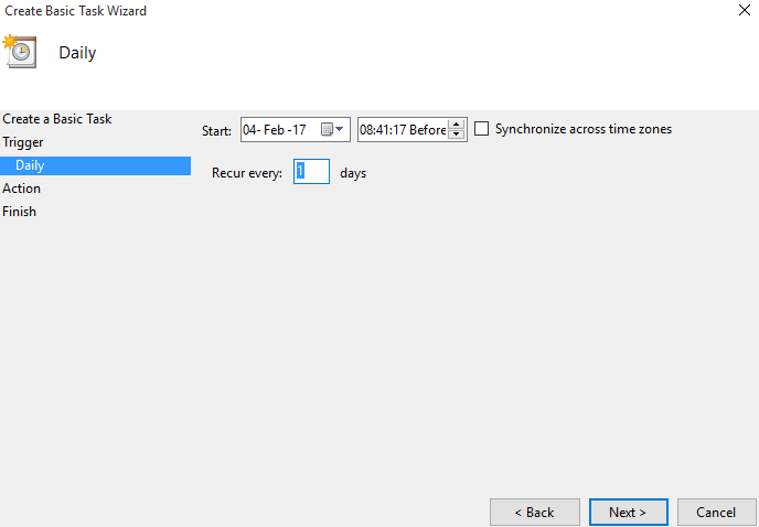 Enter daily task details