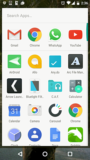 icons for Gmail, Chrome, WhatsApp, and YouTube