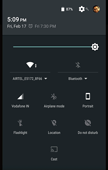 How to customize quick settings panel icons in Android