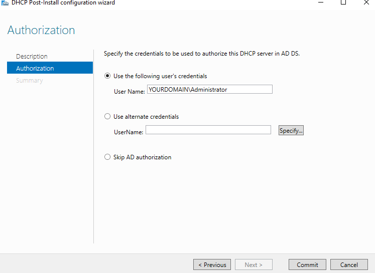 Configure Autorization
