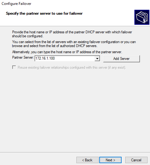 Add IP of the partner server