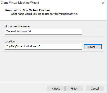 Choose VM name
