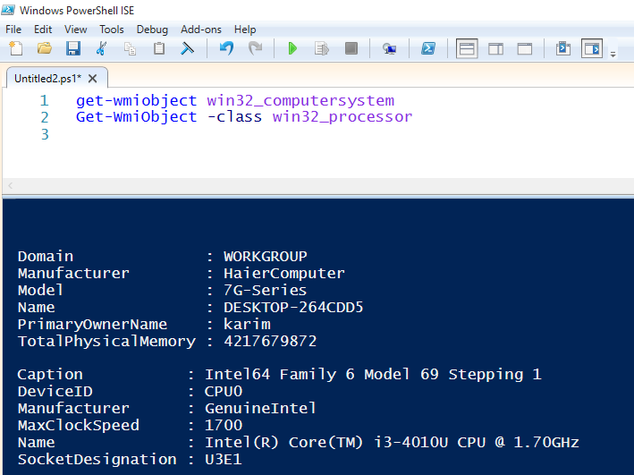 Get server specs with PowerShell