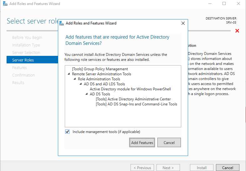 Choose Active Directory Domain Services