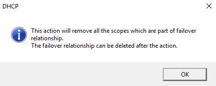 Force Delete Windows Server DHCP Failover Relationship