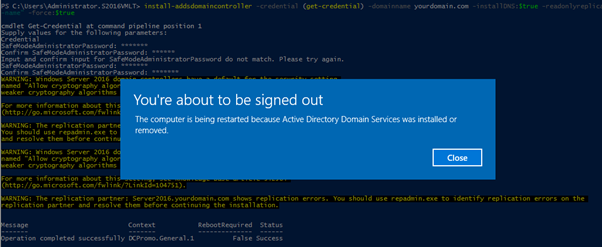, How to Configure Read-Only Domain Controller Windows Server 2016 Using PowerShell