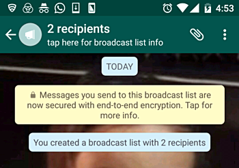 How to send WhatsApp message to multiple contacts at once without
