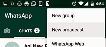 How to send WhatsApp message to multiple contacts at once