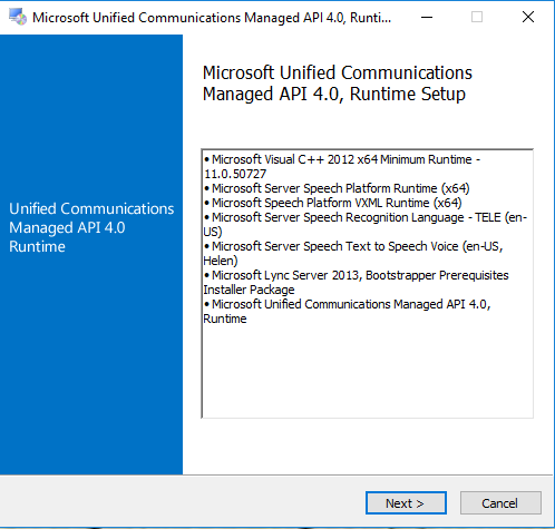 microsoft unified communications managed api 4.0
