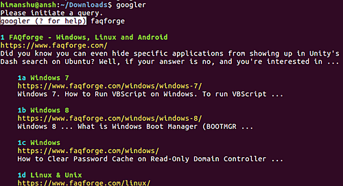 , How to perform Google search through command line in Linux