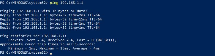 Ping DNS servers