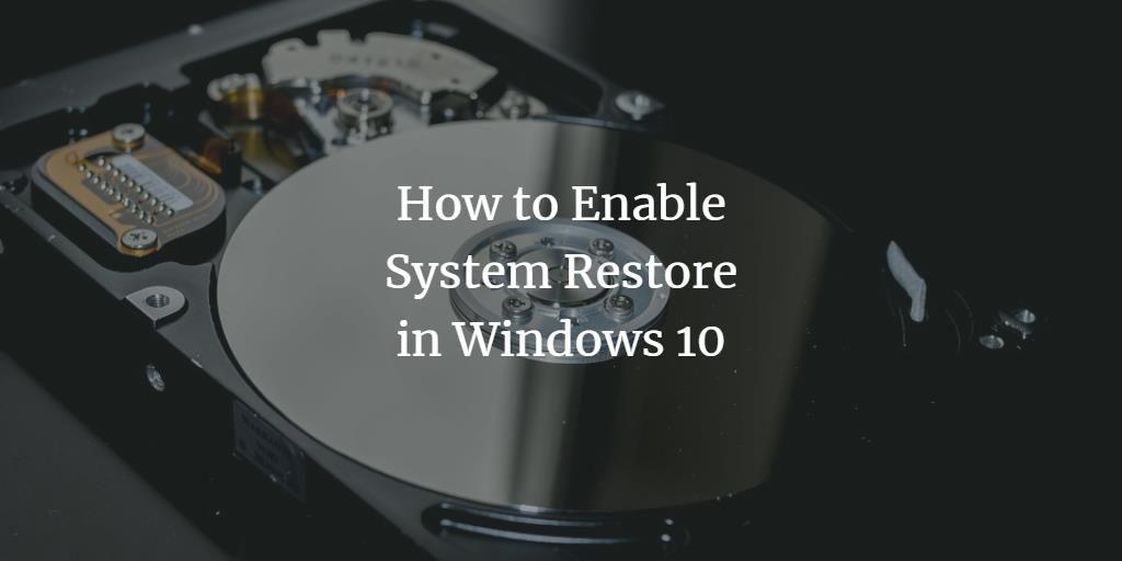 Windows 10 System Restore Point