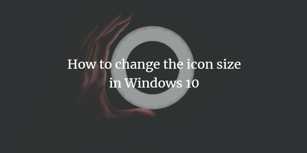 change icon font in windows 10