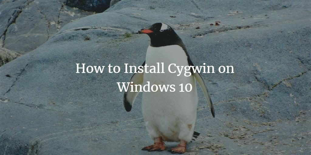 Cygwin on Windows 10