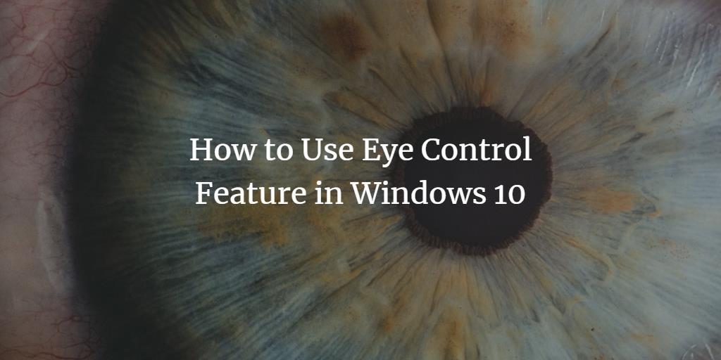 Windows 10 eye control