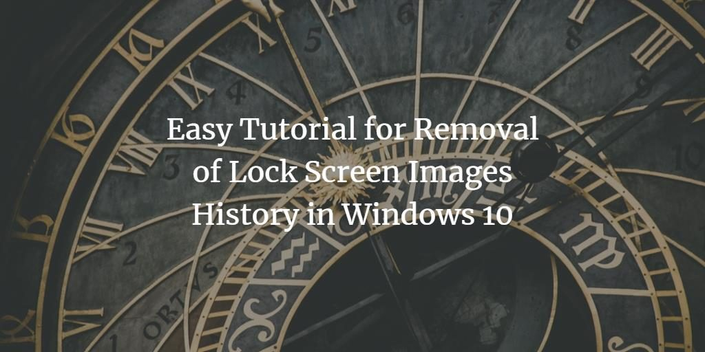 Windows Lock screen Image removal