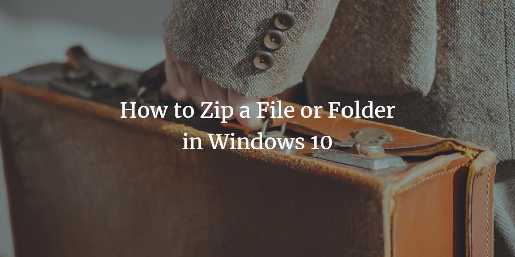 Windows zip file
