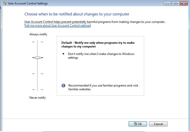 Default notify settings