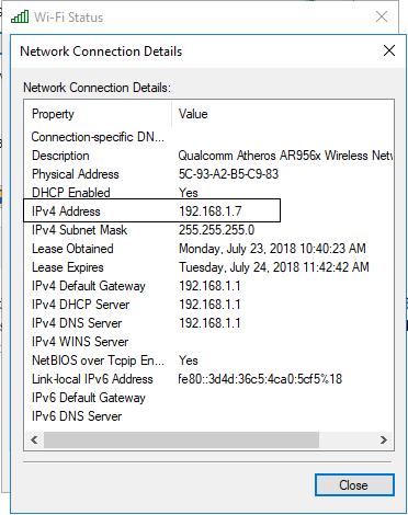 Network status details
