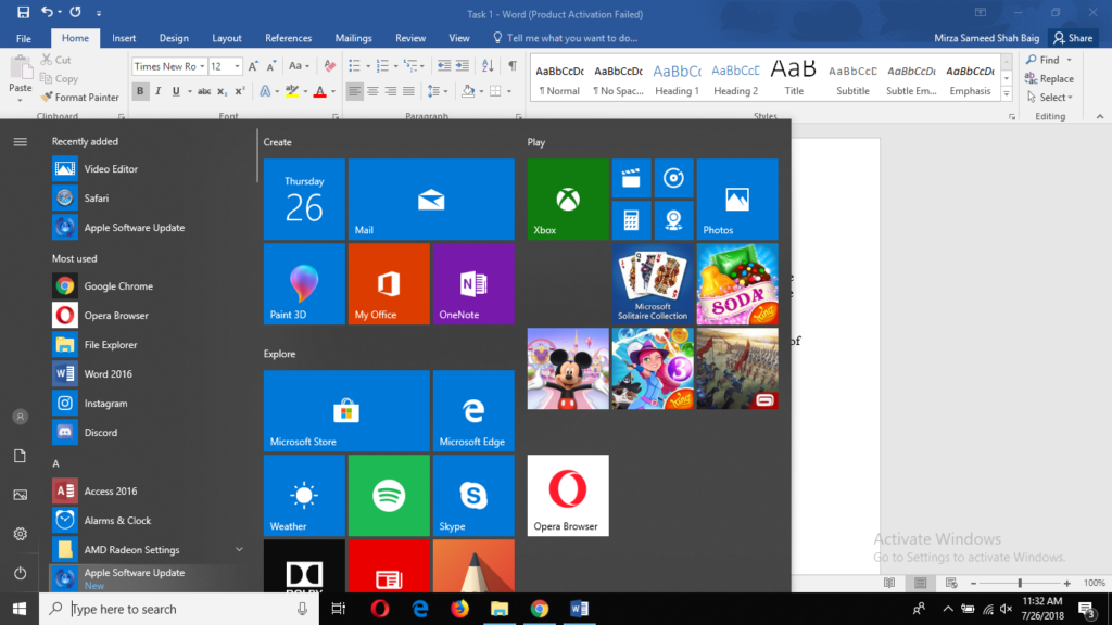 how to make icons move freely windows 10