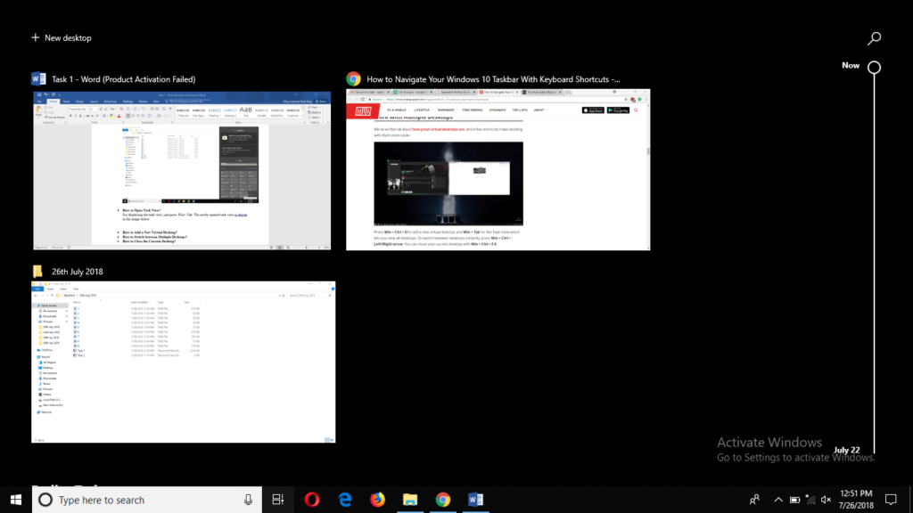 Open Task View