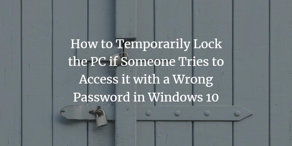 Windows Lock PC