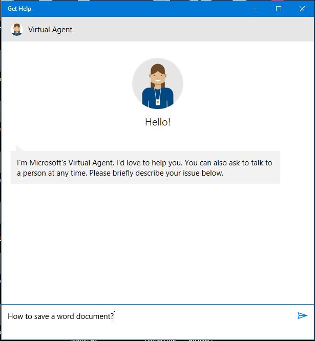 Use the help menu in Windows 10