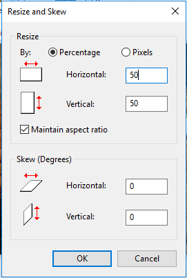 Resize by percentage