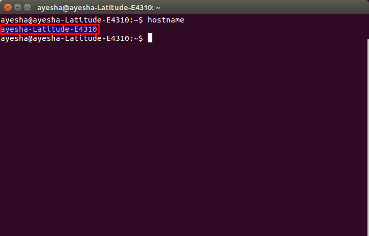 The computer hostname is shown in the Linux terminal