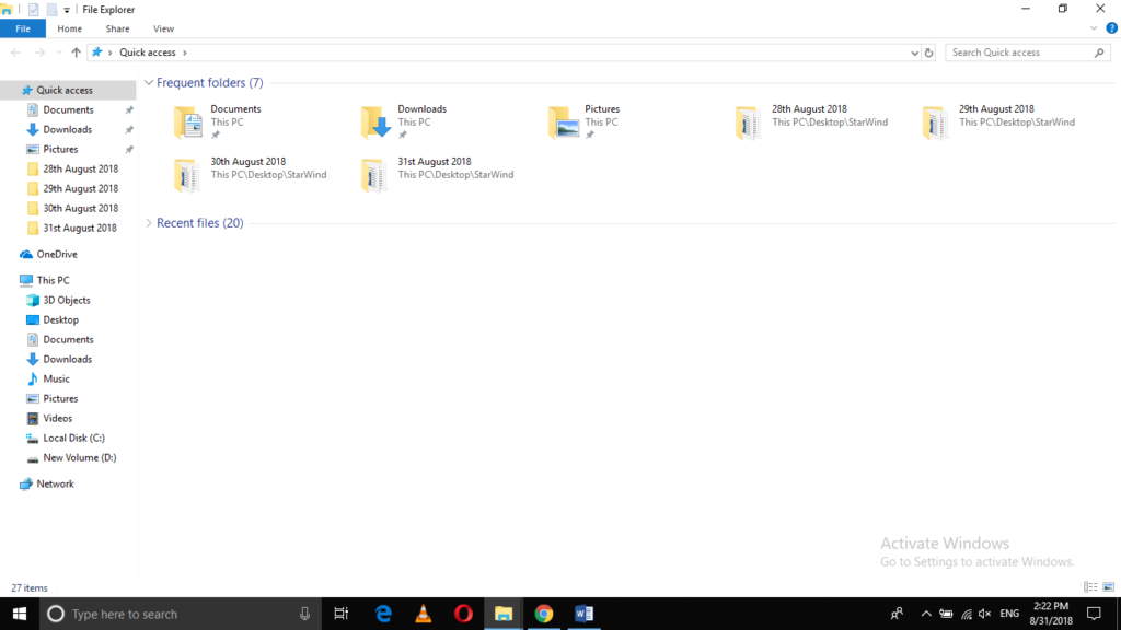 Launch Windows File Explorer