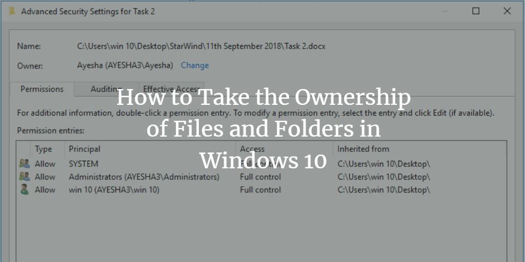 Windows change file owner