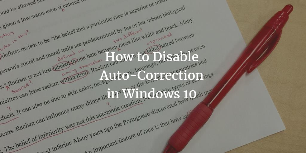 Disable Windows Spell Checker