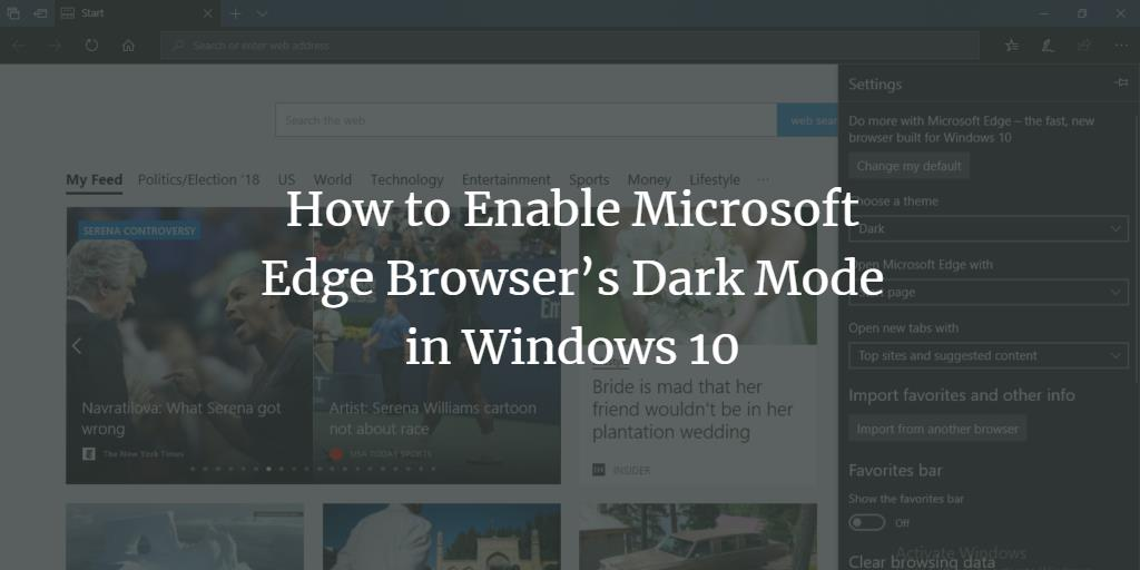 Microsoft Edge Browser Dark Mode