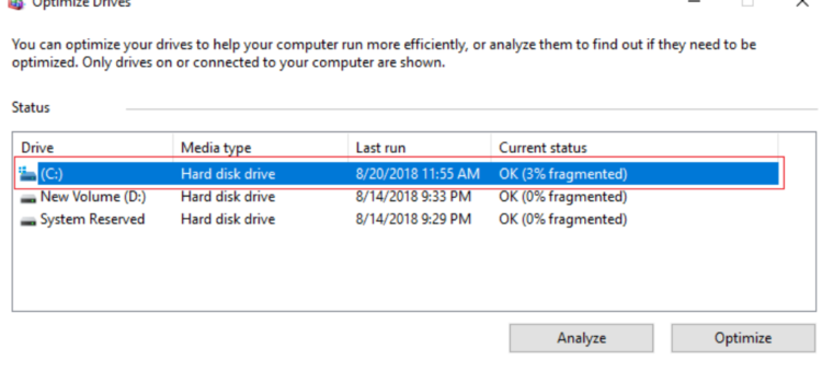 How to Defragment Hard Disk Drive in Windows 10