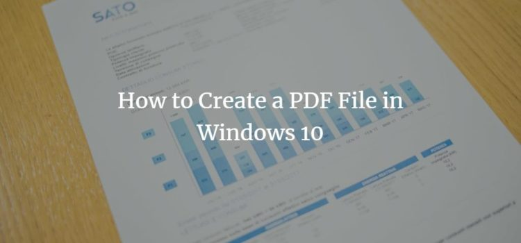 Create PDF file in Windows 10