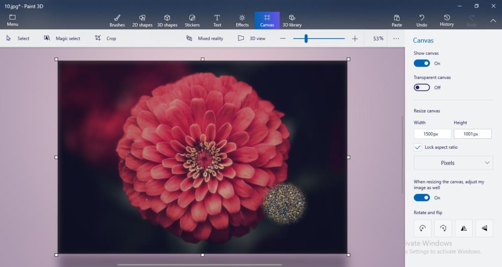 Resize Photo in Windows 10