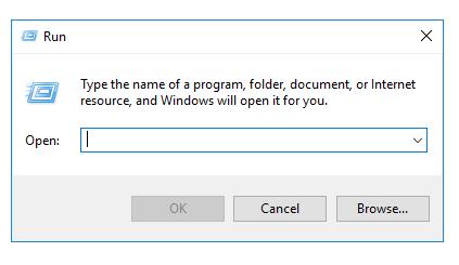 Windows run prompt