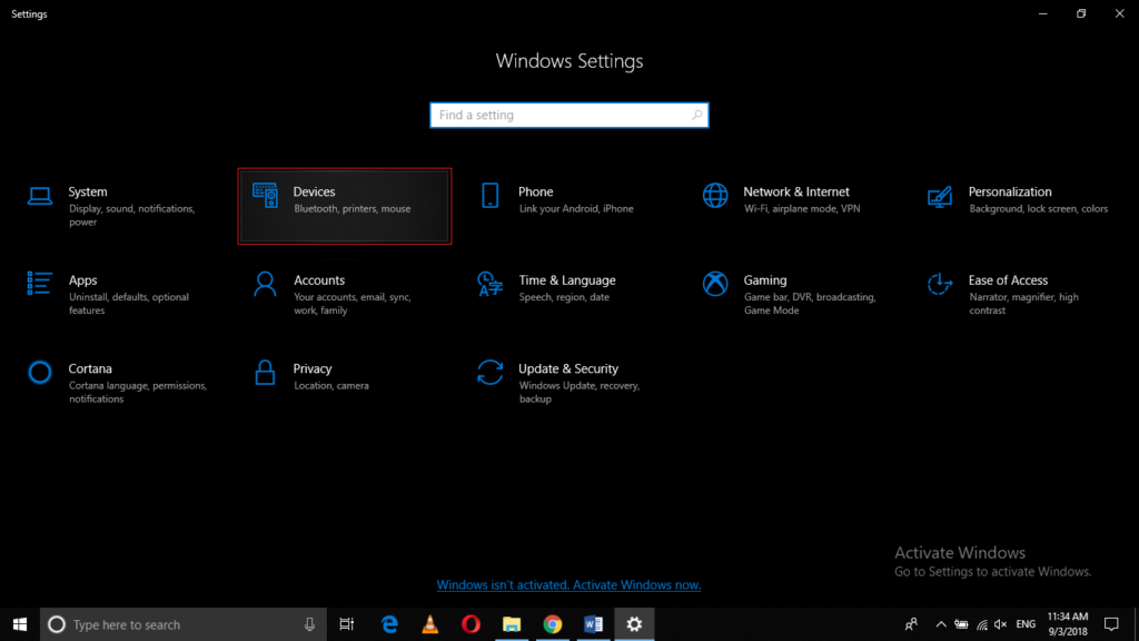 Launch Windows Settings