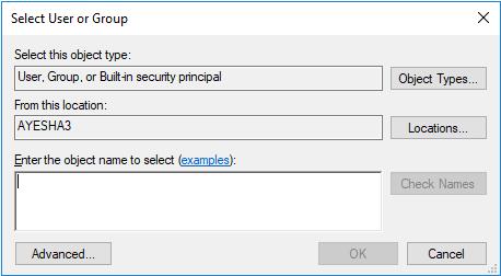 Select user and Group