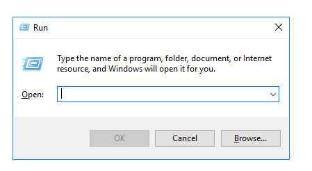 Windows run prompt