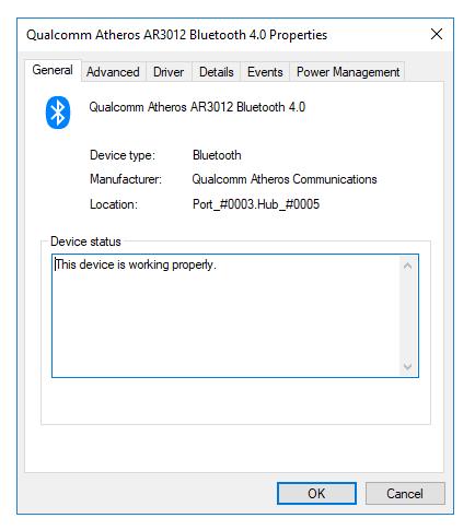 Bluetooth Properties